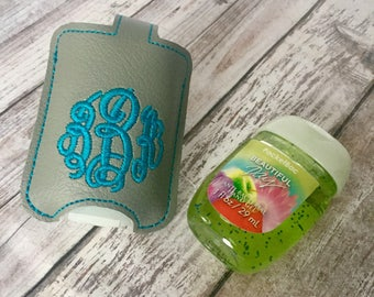 Personalized Monogram keychain - womens gift -  fits new BBW hand sanitizer holder - monogrammed vinyl key fob
