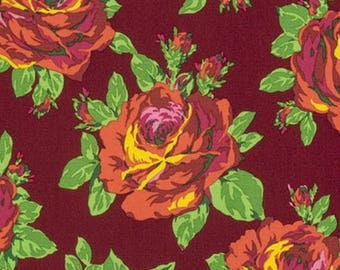 HALF YARD - Amy Butler Fabric, Eternal Sunshine, Rose Lore, Amber, Floral cotton quilting fabric