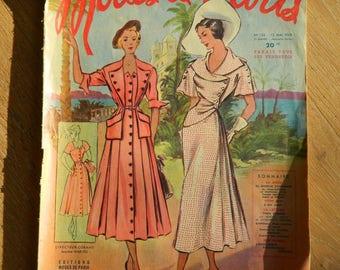 Vintage Fashion Magazine, Vintage Magazine, Vintage Fashion, Sewing Collectible, Modes de Paris, French Fashion, Vintage French