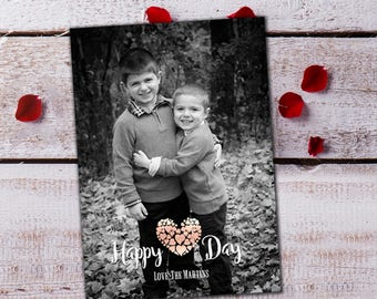 Happy Heart Day Valentine's Day Card Template