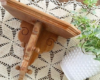 Shelf Life... Vintage Wood Corbel Shelf Ornate Wall Hanging Farmhouse Decor Rustic Wooden