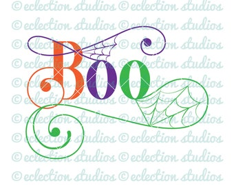 Halloween SVG, Boo svg, cobwebs, spiderwebs spooky sign commercial use SVG, DXF, eps, jpg, and png file for silhouette or cricut