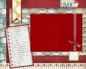 Love To Cook - Premade Scrapbook Page