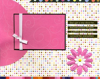 She's Got A Way About Her - 12x12 Premade Scrapbook Page