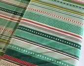 Berry Merry Fabric, Christmas Fabric, Christmas Quilting fabric, Quilt fabric, Craft fabric, Berry Merry Stripe in Mint, choose the cut