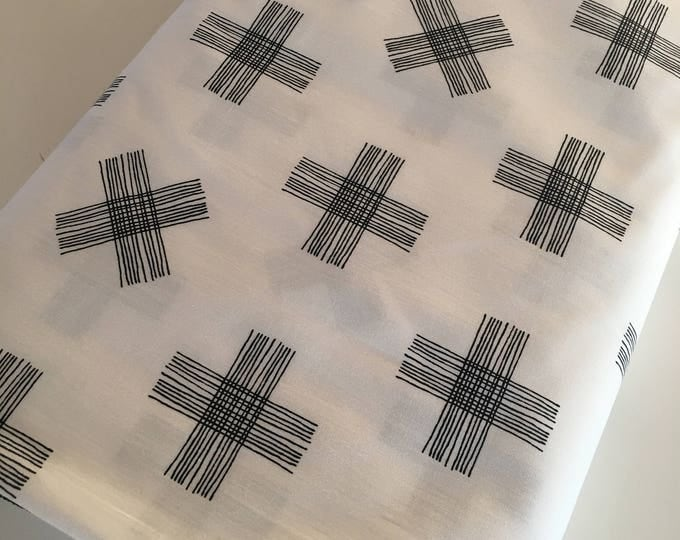 Nest fabric by Art Gallery, Gender Neutral Fabric, Black and White Decor, Nursery, Girl or Boy Baby Quilt, Twinkle Twinkle - Choose your cut