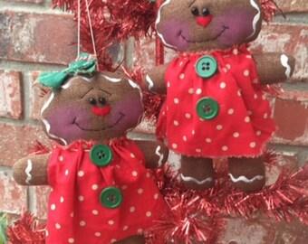 Primitive set of Gingerbread Ornies