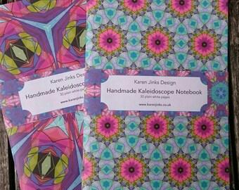2 Handmade A5 Notebooks - Kaleidoscope Set 3