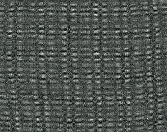 Robert Kaufman Fabric, Essex Yarn Dyed Metallic, E105-364 Ebony, 50% Linen, #175