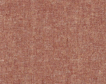 Robert Kaufman Fabric, Essex Yarn Dyed Metallic, E105-1086 Copper, 50% Linen, #185