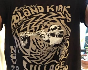 Electric Roland Kirk Tee Shirt, Vintage Village Vanguard Concert Tee Shirt, Jazz Shirt