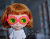 Twiggy Twiggy S04-FPY Blythe Flower Glasses - Pink w/ Yellow Lenses サングラス ブライス
