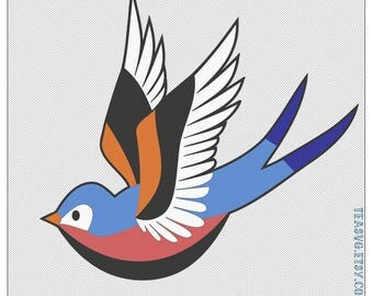 SVG: Swallow - Bird - Layers