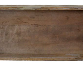 Beautiful crate style wall shelf from recycled wood