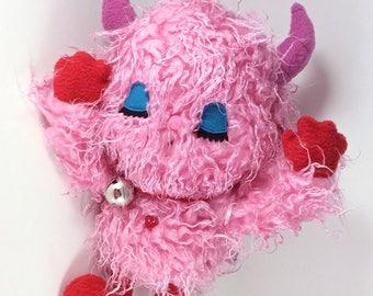 Valentine Plush Monster OOAK