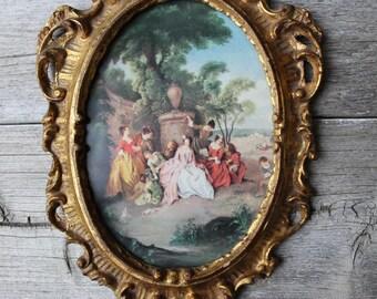 Italian Art Print, Marie Antoinette,  Vintage Art, Vintage Framed Art, Vintage wall decor, framed print, Art Print, Gold Frame, Florentia