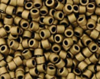TOHO Japanese Seed Beads - Cylinder Treasure 11/0: 702 Matte Metallic Dark Copper - choose your gram weight