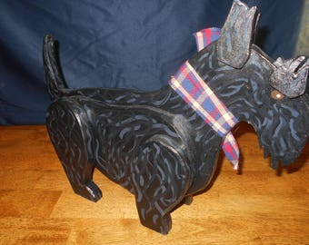 Primitive Style Wooden Scottie T. Dawg