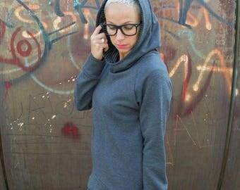 ON SALE Hoodie sweatshirt in organic cotton.organic clothing,womens clothing,organic cotton sweatshirt,cool sweatshirt,organic hoodie,women