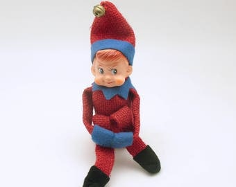 Vintage Christmas Decoration Pixie Ornament Elf Good Luck