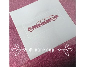 "Cookie Stencil - Limo - 6""x6"" Laser Cut"