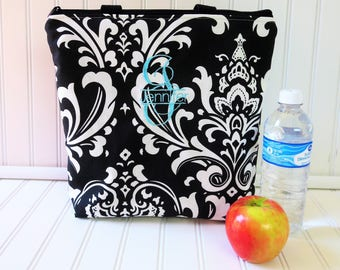 Lunch Bag - Deluxe Lunch Tote - Personlized Lunch Box - Insulated Lunch Tote - Large Lunch Tote - Monogrammed Lunch Bag - Teacher Gift