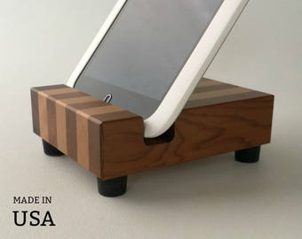 Ipad Stand, iPad Mini Stand, for Nook, Kindle, iPad Mini, Wood Stand, Modern Reclaimed Wood