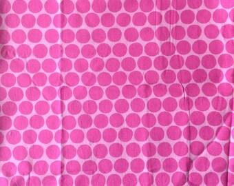 Pink dot fabric - 70x70 cm.