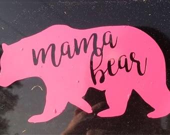 Mama Bear Momma Bear Vinyl Decal for Car, Laptop, Tumbler, Yeti, or Decor