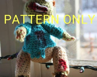 CROCHET PATTERN Zombie Doll