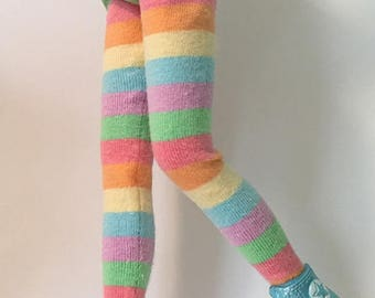 Multi-Colored Pastel Stripes...Tights For Blythe...