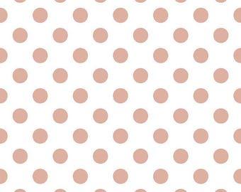 Riley Blake Rose Gold Medium Dot Fabric, 1 yard