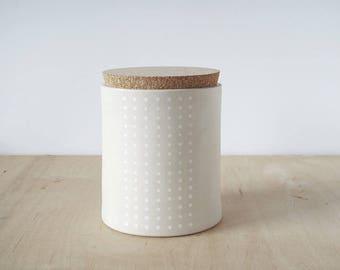 large storage jar.