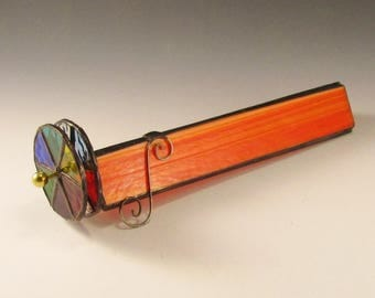 Stained Glass Kaleidoscope - Orange Streaky