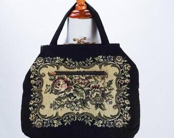 Vintage Large Tapestry Handbag