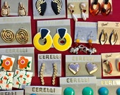 20 pr vintage retro pierced earrings Vintage 80s 90s New Old Stock