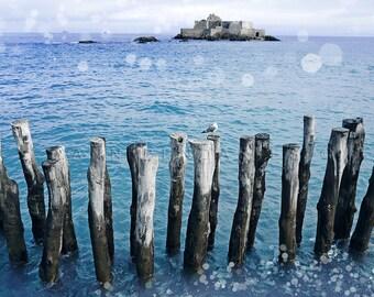 Britanny landscape, beach decor, cottage decor, seaside print, beach cottage decor, seaside decor, ocean photography, ocean print, sea decor
