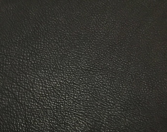 Dark CHOCOLATE BROWN cow hide Leather Piece #8 11x5""