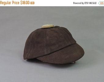20% Sale - Vintage Little Boy's Wool Cap, Brown Hat 1920s 1930s