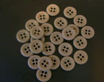 "Tan Buttons - 1/2"" - Bag of 25"