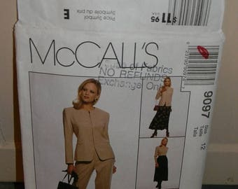 Christmas in July McCall's Jones New York Jacket, Pants and Skirt Pattern N9097, uncut Size 12