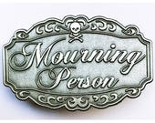 Enamel Pin Mourning Person