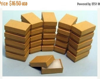 STOREWIDE SALE 50 Pack of 3.25X2.25X1 Inch Size Kraft Paper Cotton Filled Jewelry Presentation Boxes