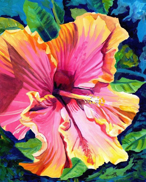 Hibiscus Art Print 8x10 Art Prints Hibiscus Paintings