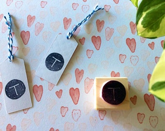 Monogram rubber stamp - Personalized rubber stamp - your monogram in circle