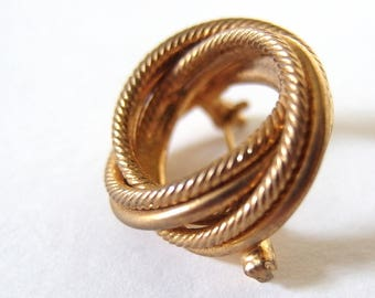Vintage Goldtone Stacked Circles Scarf Pin