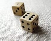 vintage dice tiny dice game piece