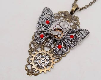 Steampunk jewelry. Steampunk   large pendant necklace.
