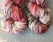 Heart Crusher: Set of 2 Hand Dyed TOAK Bulky Weight Yarn for Knitters & Crocheters