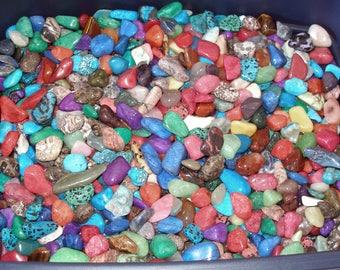 Multi Color Tumble Polished Rocks Crafts Decorative Kids Adults